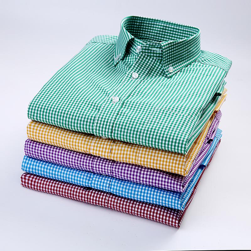 绿色衬衫 春季扣领长袖衬衫男青年时尚休闲绿色条纹格子衬衣男寸衫打底衫棉_推荐淘宝好看的绿色衬衫