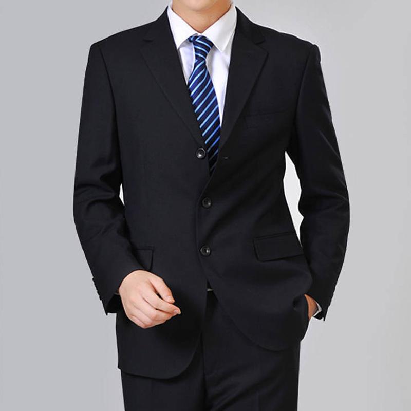 西装男 春夏新款中年男士休闲西服外套中老年爸爸装商务单件便西装男上衣_推荐淘宝好看的西装男