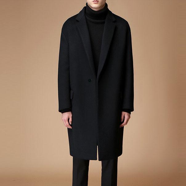韩版男士小西装 2020秋冬新款羊绒大衣男士中长款宽松呢子大码外套潮韩版休闲风衣_推荐淘宝好看的韩版男士西装