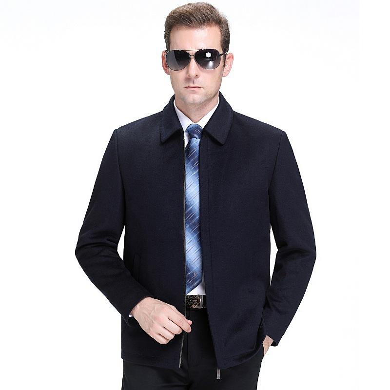 毛呢夹克 毛呢夹克男士2020秋冬休闲品牌男装中年短款男士羊毛羊绒呢子外套_推荐淘宝好看的男毛呢夹克