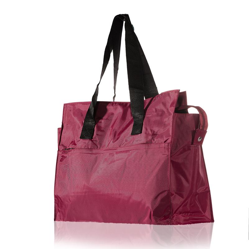 欧美手提包 欧美尼龙包女轻便大包大容量拉链防水购物袋单肩包手提短途旅行包_推荐淘宝好看的女欧美手提包