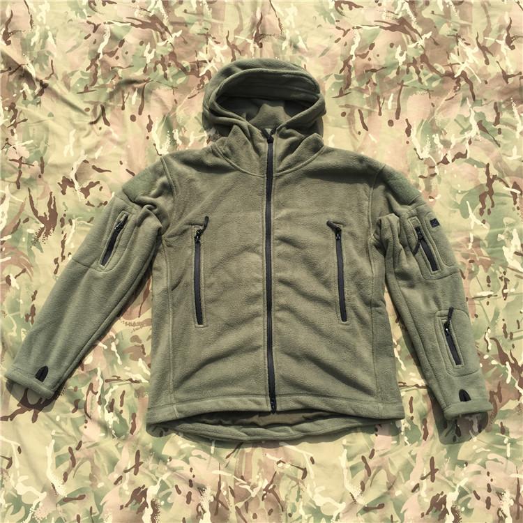 绿色风衣 连帽款军绿色400克防寒保暖抓绒面料夹克外套风衣 抗寒秋冬季新品_推荐淘宝好看的绿色风衣