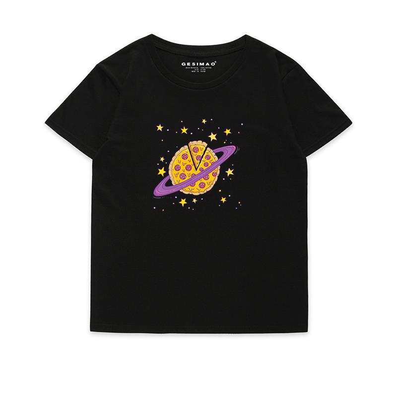 个性t恤 GESIMAO 卡通比萨星球 独立设计 2019年新款 原创男女t恤个性短袖_推荐淘宝好看的女个性t恤