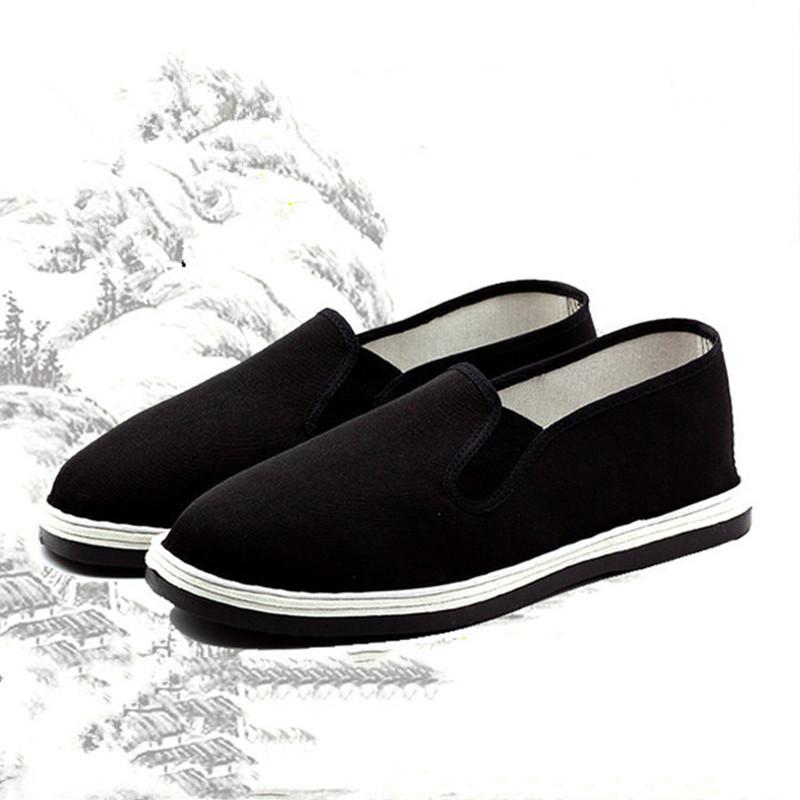 黑色平底鞋 批老北京手工布鞋女夏季低帮套脚平底防滑休闲中老年黑色布鞋发_推荐淘宝好看的黑色平底鞋