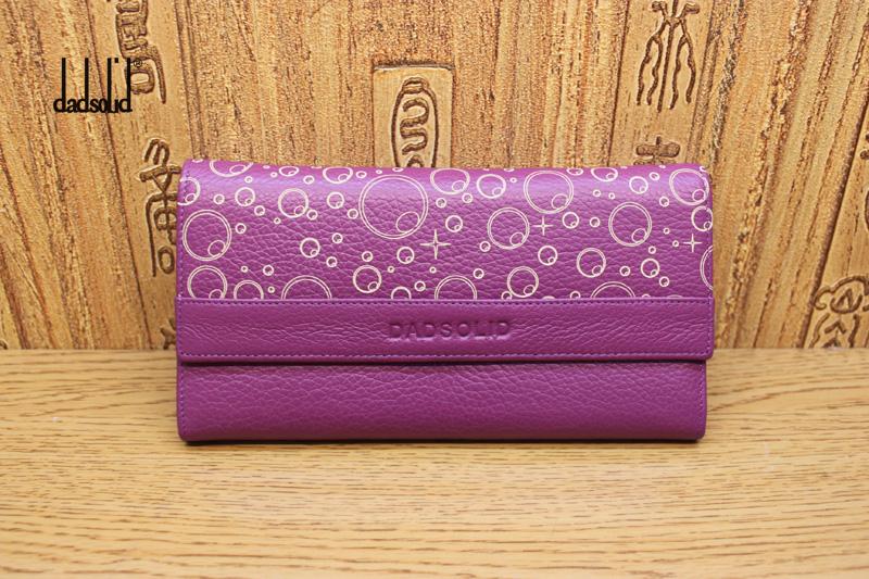 紫色钱包 喜登露易清仓紫色女士长款钱包韩版潮女银包多功能长三折甜美女夹_推荐淘宝好看的紫色钱包