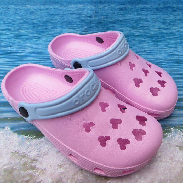 粉红色凉鞋 包邮夏季流行洞洞鞋 米奇头沙滩鞋 女鞋凉拖花园鞋 粉红色凉鞋子_推荐淘宝好看的粉红色凉鞋