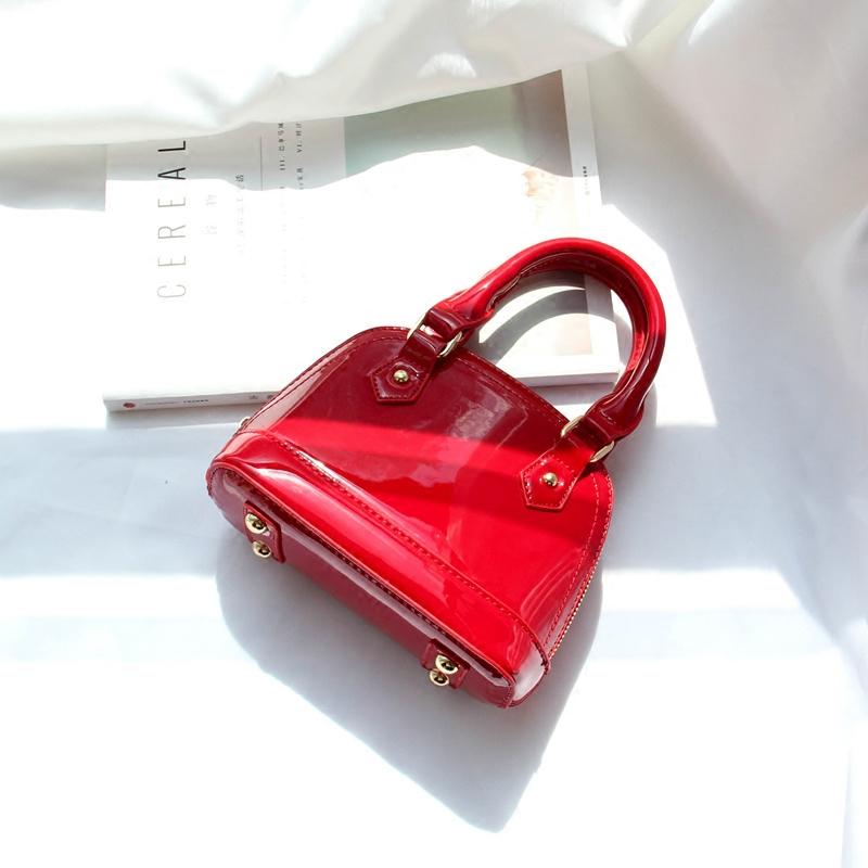 红色贝壳包 包包2020新款潮高级感漆皮贝壳包春夏小包包百搭单肩斜挎手提包女_推荐淘宝好看的红色贝壳包