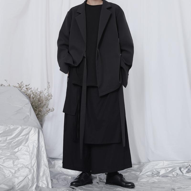 日本西装男 原创新款西服男外套日系山本暗黑风小众设计师不对称气质西装外套_推荐淘宝好看的日西装男