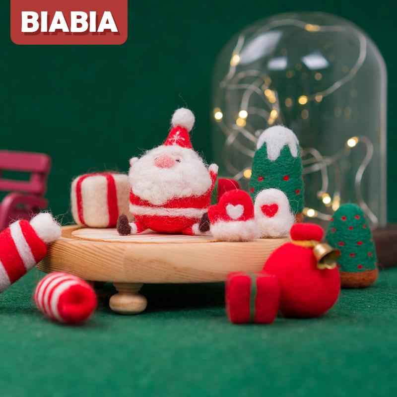 mcm糖果包 羊毛毡diy材料包戳戳乐手工制作新年礼物圣诞节老人雪人糖果手套_推荐淘宝好看的mcm糖果包