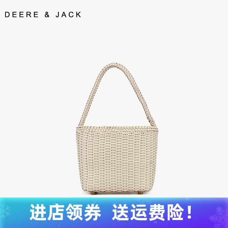 白色草编包 小众设计师女包2021夏季沙滩草编包编织包牛皮白色小包包单肩斜挎_推荐淘宝好看的白色草编包