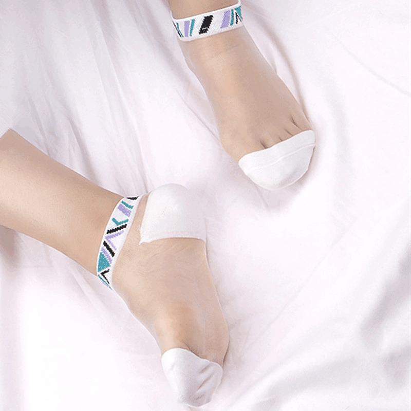 丝袜 夏季船袜水晶丝超薄男袜情侣丝袜女低帮浅口隐形袜子男士小脚袜子_推荐淘宝好看的丝袜