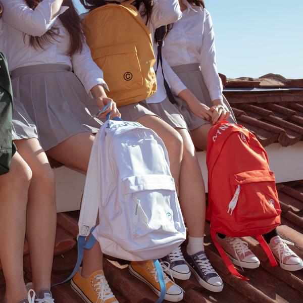 帆布双肩糖果包 韩国代购SHOOPEN糖果色印刷字母流苏吊坠帆布情侣男女双肩背包_推荐淘宝好看的帆布双肩糖果包