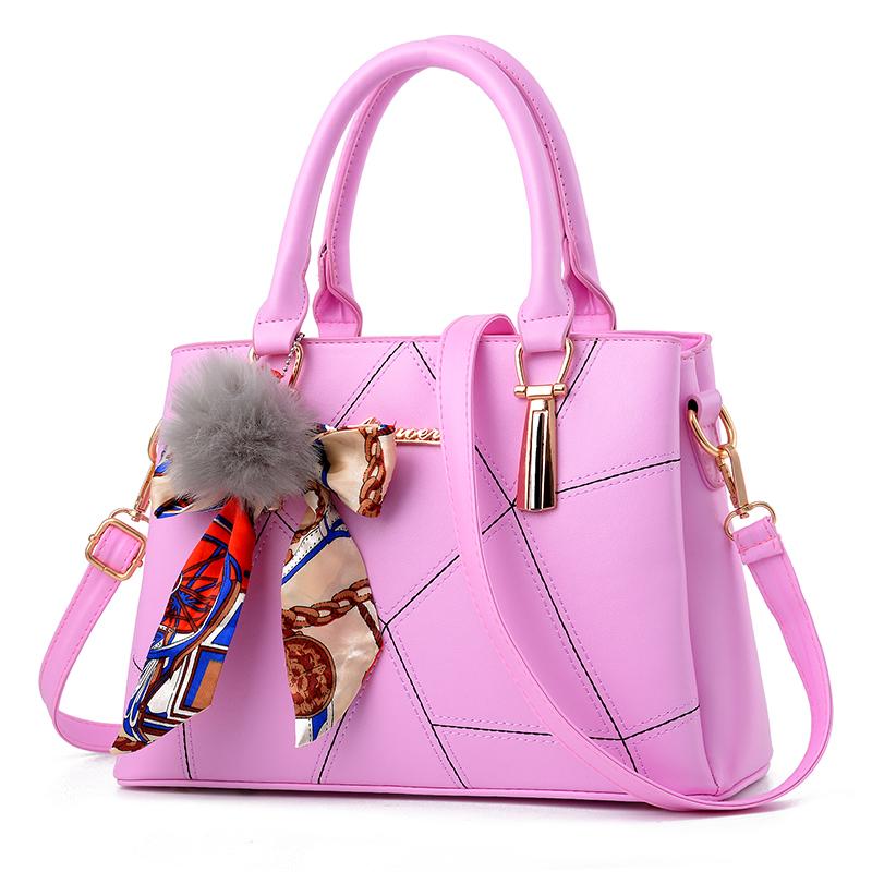粉红色斜挎包 时尚女包2019新款潮女式包包定型甜美淑女单肩斜挎包女手提包青年_推荐淘宝好看的粉红色斜挎包