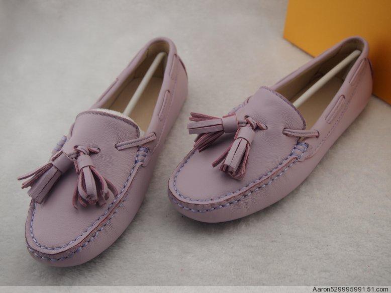紫色豆豆鞋 定做 【手工鞋】豆豆鞋 真皮 绵羊皮浅紫色 平底流苏鞋 圆头 女鞋_推荐淘宝好看的紫色豆豆鞋