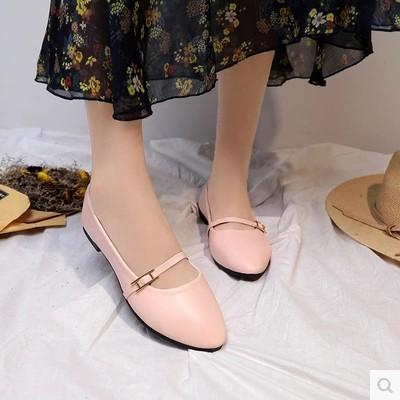 粉红色豆豆鞋 奶奶鞋新款女鞋小尖头平底平跟豆豆鞋皮鞋H铆钉搭扣银粉红色单鞋_推荐淘宝好看的粉红色豆豆鞋