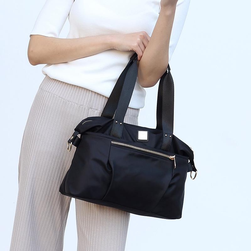 欧美时尚手提包 欧美时尚女士包包百搭牛津布尼龙斜挎包女包简约休闲手提包单肩包_推荐淘宝好看的女欧美手提包