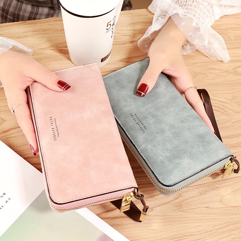 粉红色钱包 2020新款时尚手拿包女士钱包长款零钱包多功能手机包大容量手抓包_推荐淘宝好看的粉红色钱包