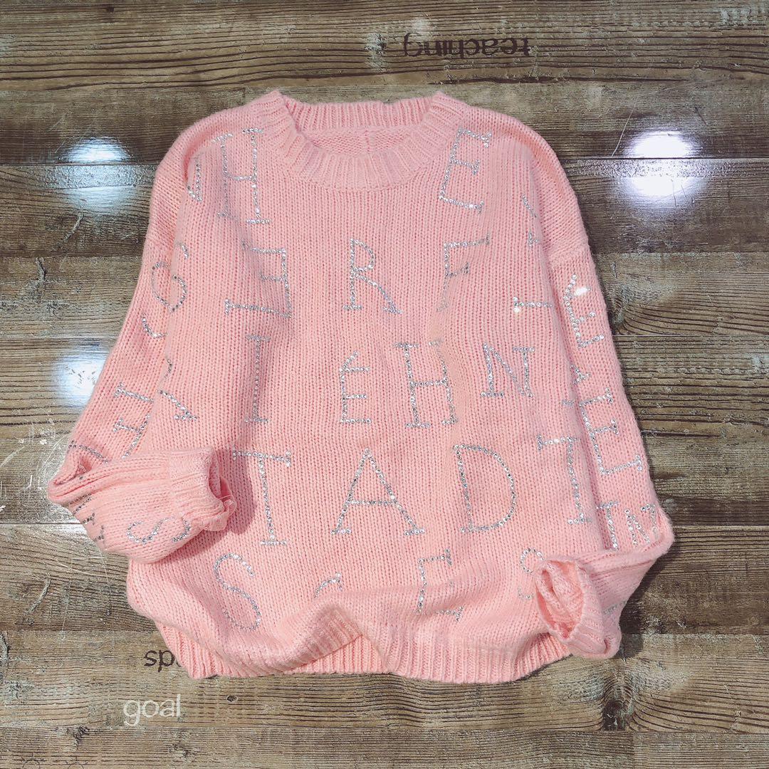 针织衫 欧洲站2020冬季新款女装重工亮钻圆领彩色舒适针织衫套头毛衣_推荐淘宝好看的女针织衫