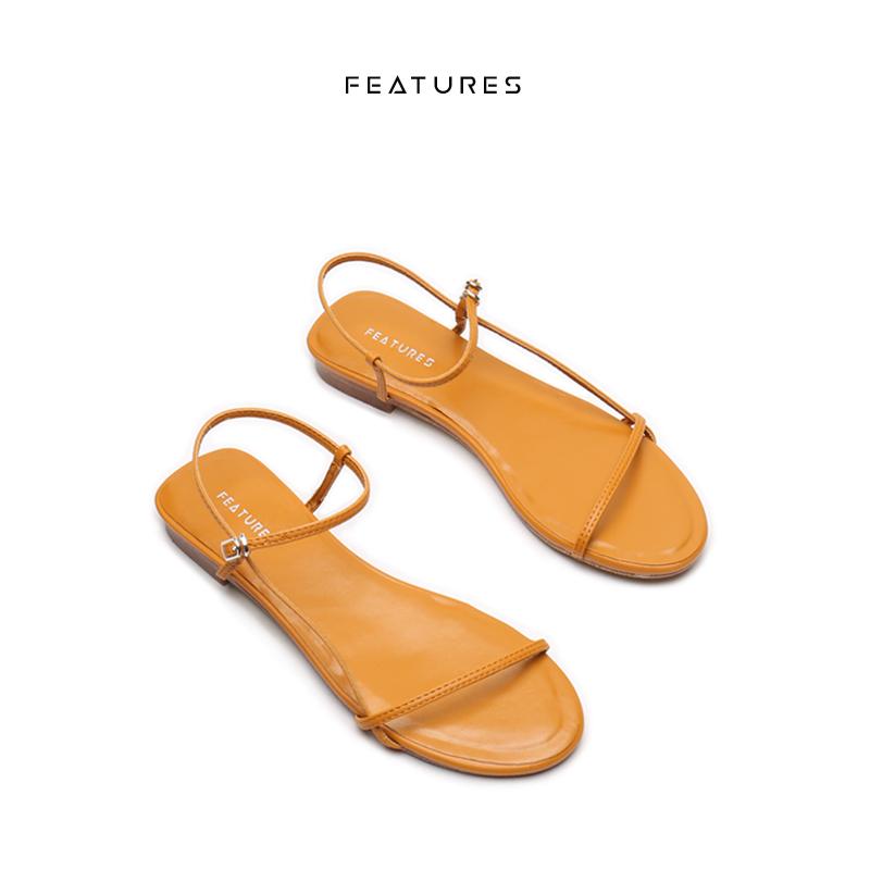 罗马平底鞋 Features仙女风沙滩平底罗马鞋女夏季新款一字扣细带露趾休闲凉鞋_推荐淘宝好看的女罗马平底鞋