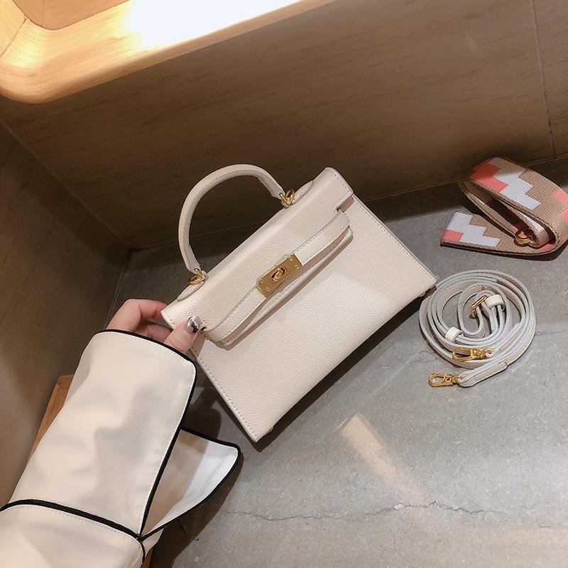 白色手提包 二代凯莉包女mini白色小包仙女单肩包手提包女包2020新款斜挎包_推荐淘宝好看的白色手提包