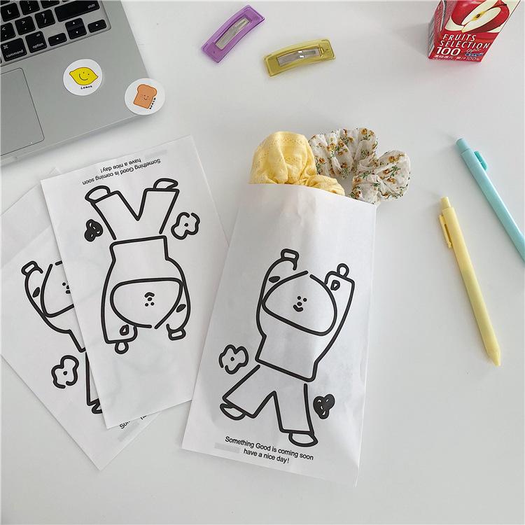 白色糖果包 韩国ins可爱包子脸环保自封袋卡通糖果礼品包装袋白色牛皮纸袋_推荐淘宝好看的白色糖果包