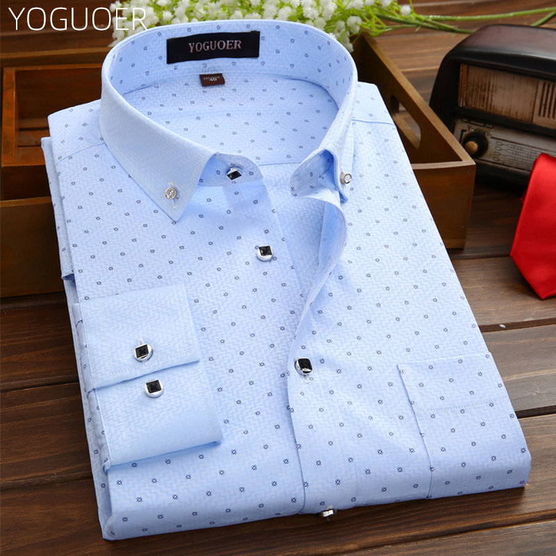 白色衬衫 男士衬衫长袖春秋季新款商务印花休闲韩版潮流条纹白色免烫衬衣寸_推荐淘宝好看的白色衬衫