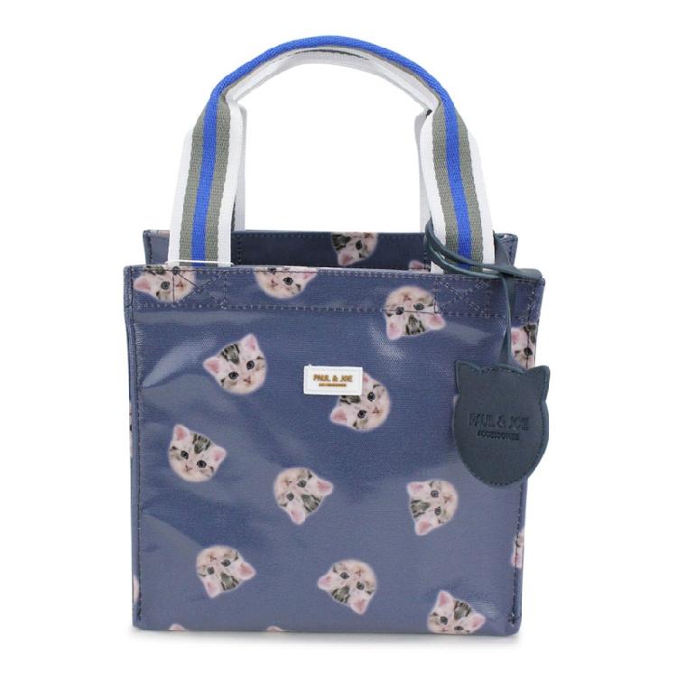 糖果包包 不當當日本代购 Paul&Joe2020新款猫咪手提袋 糖果色环保袋午餐包_推荐淘宝好看的糖果包