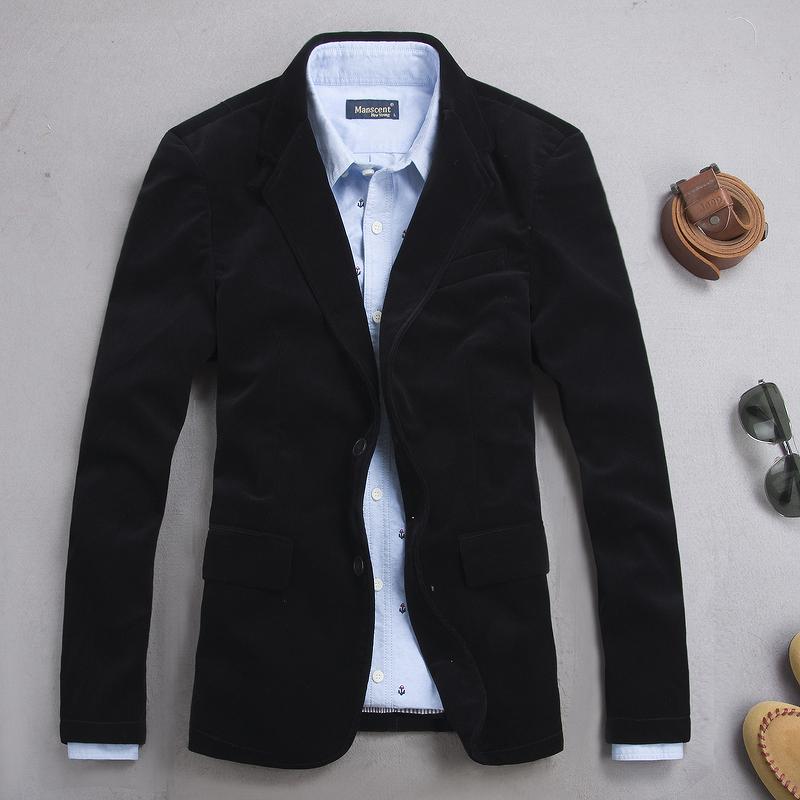 男士修身西装 奢华贵族 男装英伦修身灯芯绒西装 简约休闲丝绒西服平绒西装外套_推荐淘宝好看的男修身西装
