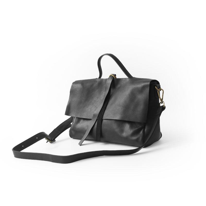黑色信封包 Vendange复古欧美时尚黑色纯皮手提包 帅气信封包牛皮斜跨女包潮_推荐淘宝好看的黑色信封包