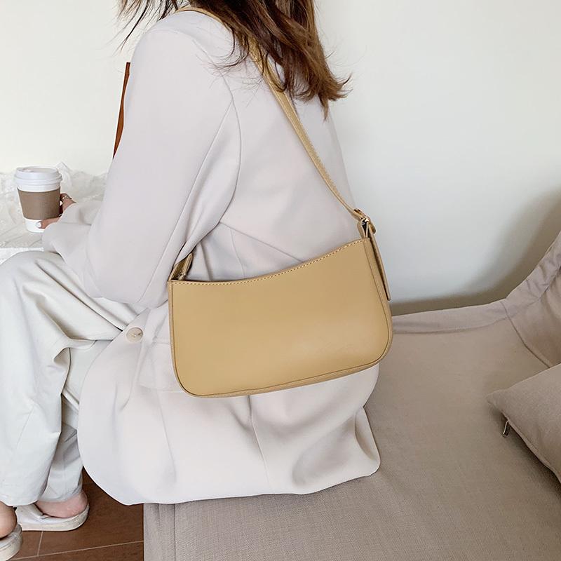 紫色手提包 高级感包包女法国小众法棍包简约手提中古包2020新款单肩腋下包_推荐淘宝好看的紫色手提包