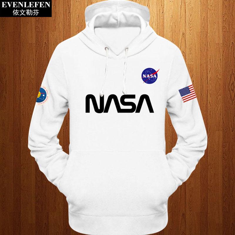 加绒卫衣 美国国家航空航天局NASA外套加绒男女火星救援上衣服厚连帽衫卫衣_推荐淘宝好看的女加绒卫衣