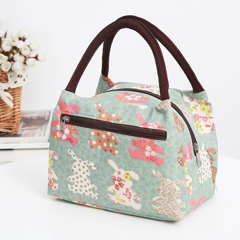 绿色手提包 布包女帆布手提小包包牛津布防水便当包多拉链女包新款妈妈买菜包_推荐淘宝好看的绿色手提包
