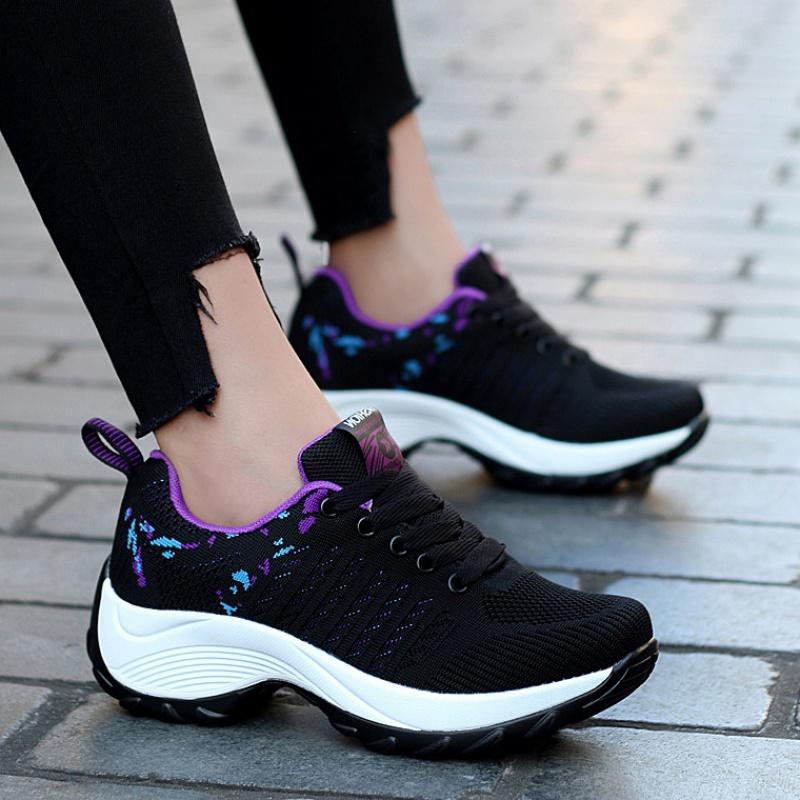 耐克运动鞋图片 迈耐克斯文max270女鞋增高春新款飞织运动鞋女韩版大码学生鞋网面_推荐淘宝好看的女耐克运动鞋