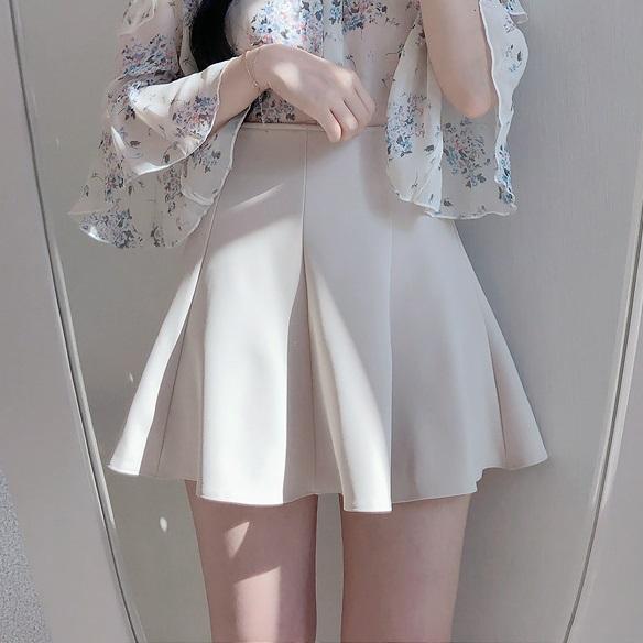 百褶裙 百褶裙女春夏2020新款高腰外穿a字蓬蓬裙白色短裙半身裙显瘦裙子_推荐淘宝好看的百褶裙