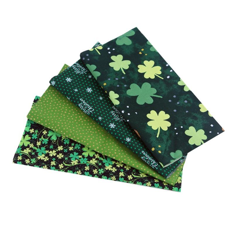 绿色钱包 DIY手工拼布教学洋娃娃零钱包布艺圣诞绿色四叶草系列小布头布组_推荐淘宝好看的绿色钱包
