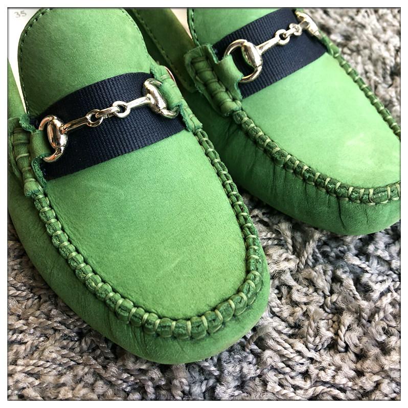 绿色豆豆鞋 343536现货 美国购 Primigi皇家风 豆豆底 船鞋 司机鞋 翠绿色_推荐淘宝好看的绿色豆豆鞋