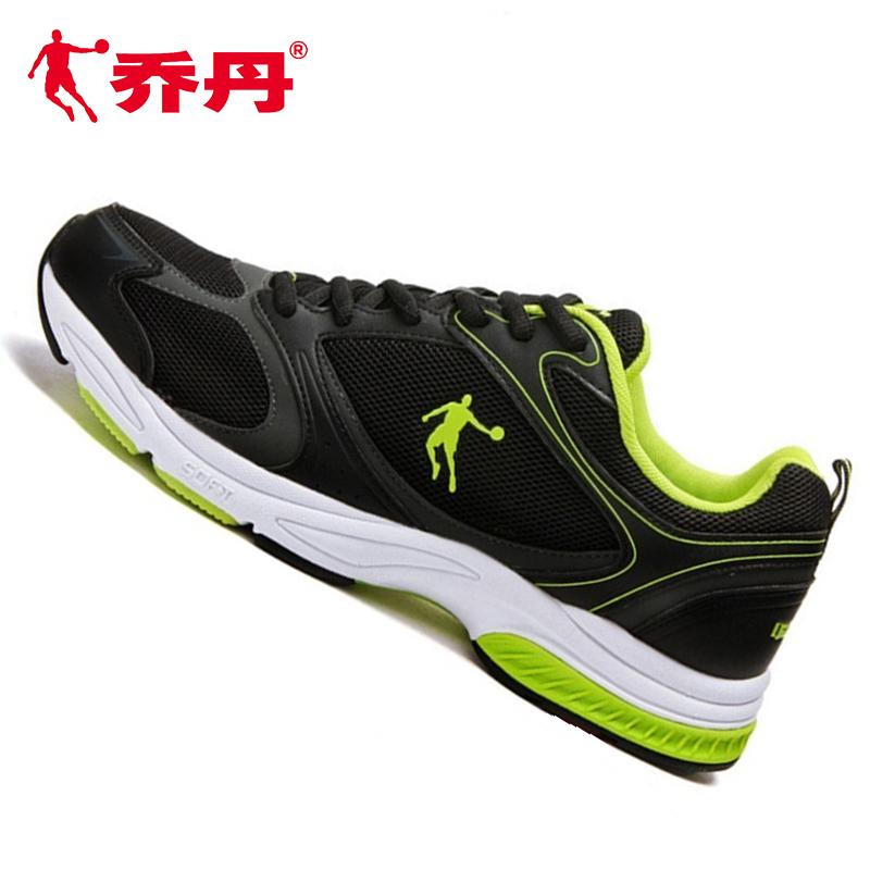 绿色运动鞋 乔丹男鞋秋款网面跑步鞋复古黑绿色运动鞋休闲旅游鞋正品轻质波鞋_推荐淘宝好看的绿色运动鞋