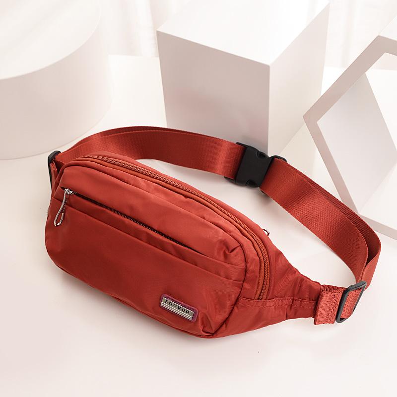 绿色斜挎包 时尚小腰包女运动跑步手机帆布包包2020新款女士百搭斜挎包潮ins_推荐淘宝好看的绿色斜挎包
