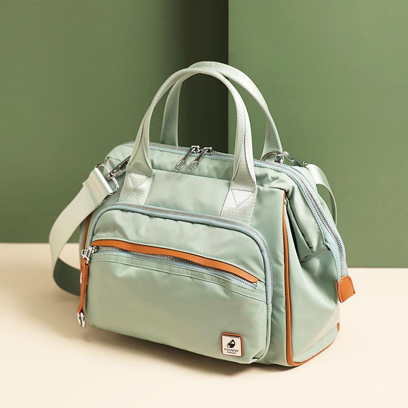 绿色斜挎包 手提包时尚包包女2020新款女包大容量旅行包单肩斜挎包帆布包大包_推荐淘宝好看的绿色斜挎包