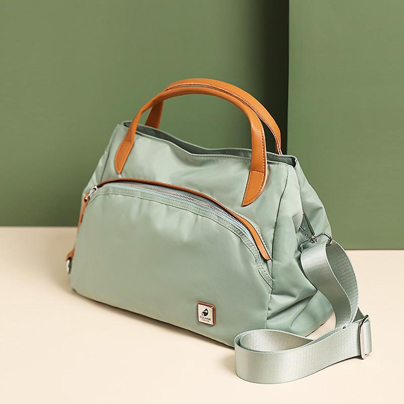 绿色斜挎包 手提包时尚休闲包包女2020新款尼龙女包牛津布单肩斜挎包帆布包潮_推荐淘宝好看的绿色斜挎包