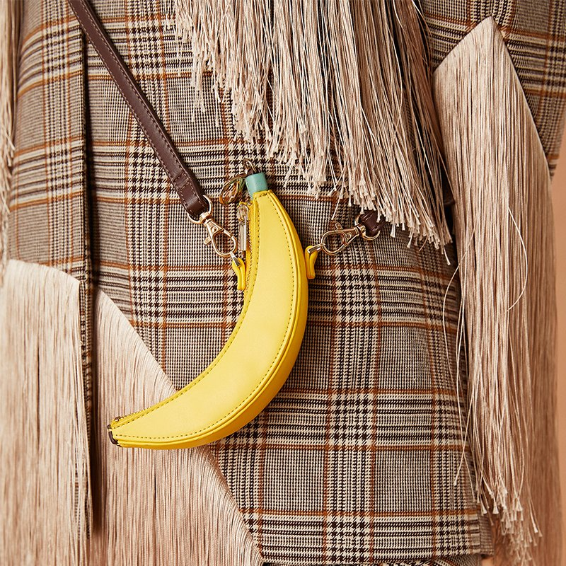 黄色迷你包 CHENSHOP设计师FLONAKED 牛仔黄色迷你香蕉包2020春夏新品_推荐淘宝好看的黄色迷你包