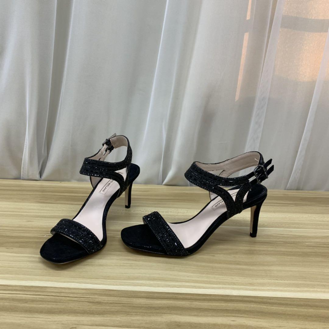 女士罗马鞋 外贸原单女鞋夏季罗马中细跟仙女风带水钻时尚舒适_推荐淘宝好看的女罗马鞋