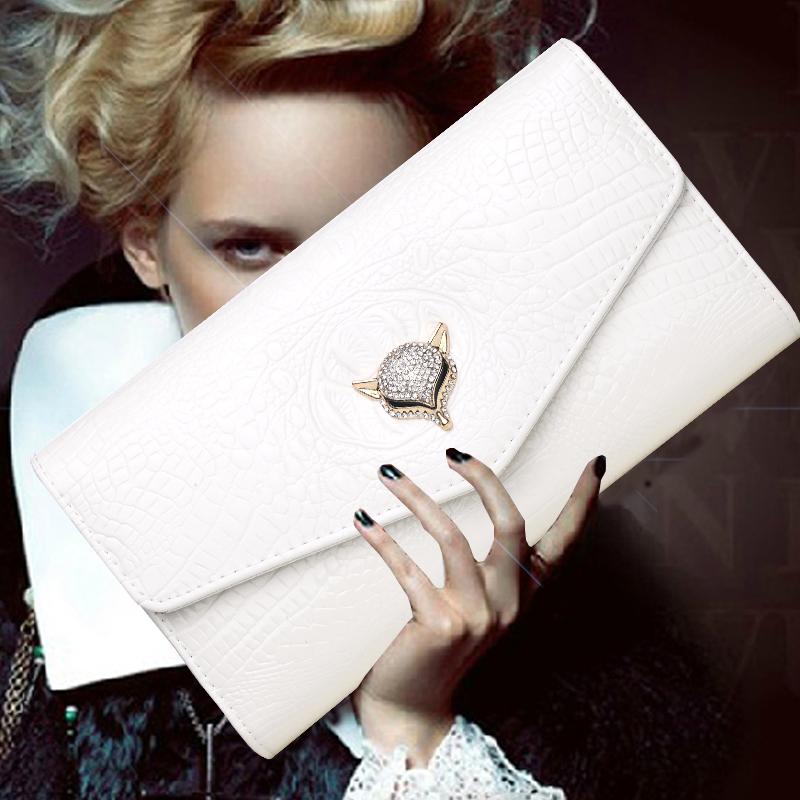 白色信封包 2020新款宴会手拿包女时尚百搭信封包漆皮手包单肩斜挎链条包小包_推荐淘宝好看的白色信封包