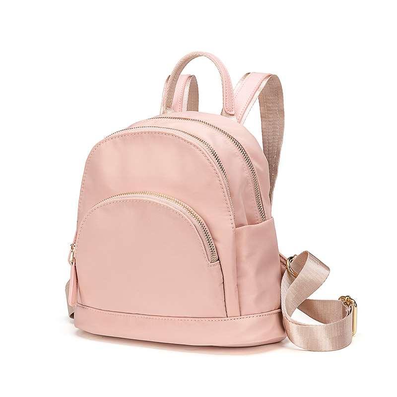 粉红色双肩包 双肩包女防盗小背包2020新款流行百搭时尚休闲牛津布粉红色小清新_推荐淘宝好看的粉红色双肩包
