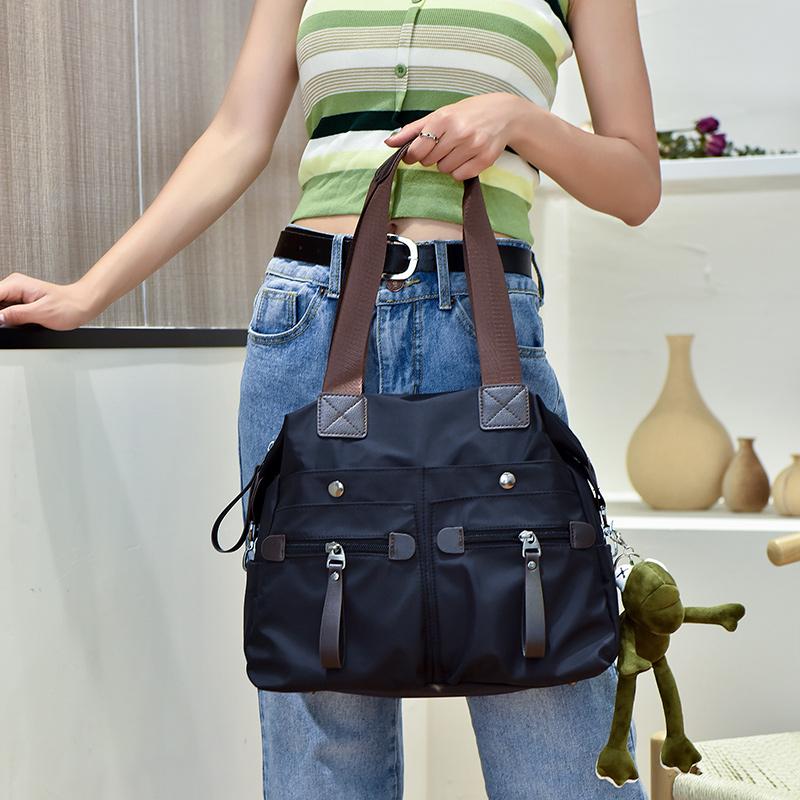 高档手提包 新款牛津布包韩版女包大容量时尚潮流尼龙女士单肩包手提旅行大包_推荐淘宝好看的女手提包