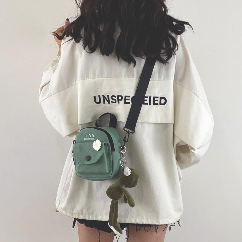 学生帆布包 少女小包包女包新款2020潮韩版百搭原宿学生单肩斜挎包时尚帆布包_推荐淘宝好看的女学生帆布包