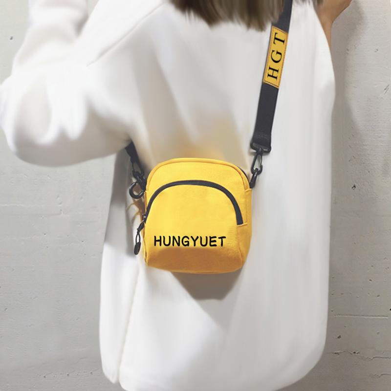 黄色斜挎包 网红质感小包包女包新款2020春夏洋气帆布包女迷你百搭单肩斜挎包_推荐淘宝好看的黄色斜挎包