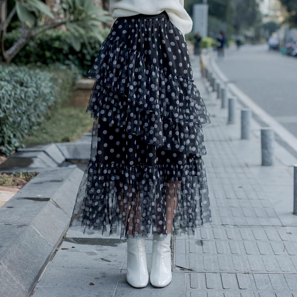 雪纺半身裙搭配 LEEMONSAN枺上20春季新款百搭半身裙时尚雪纺蛋糕裙女 5410001_推荐淘宝好看的雪纺半身裙