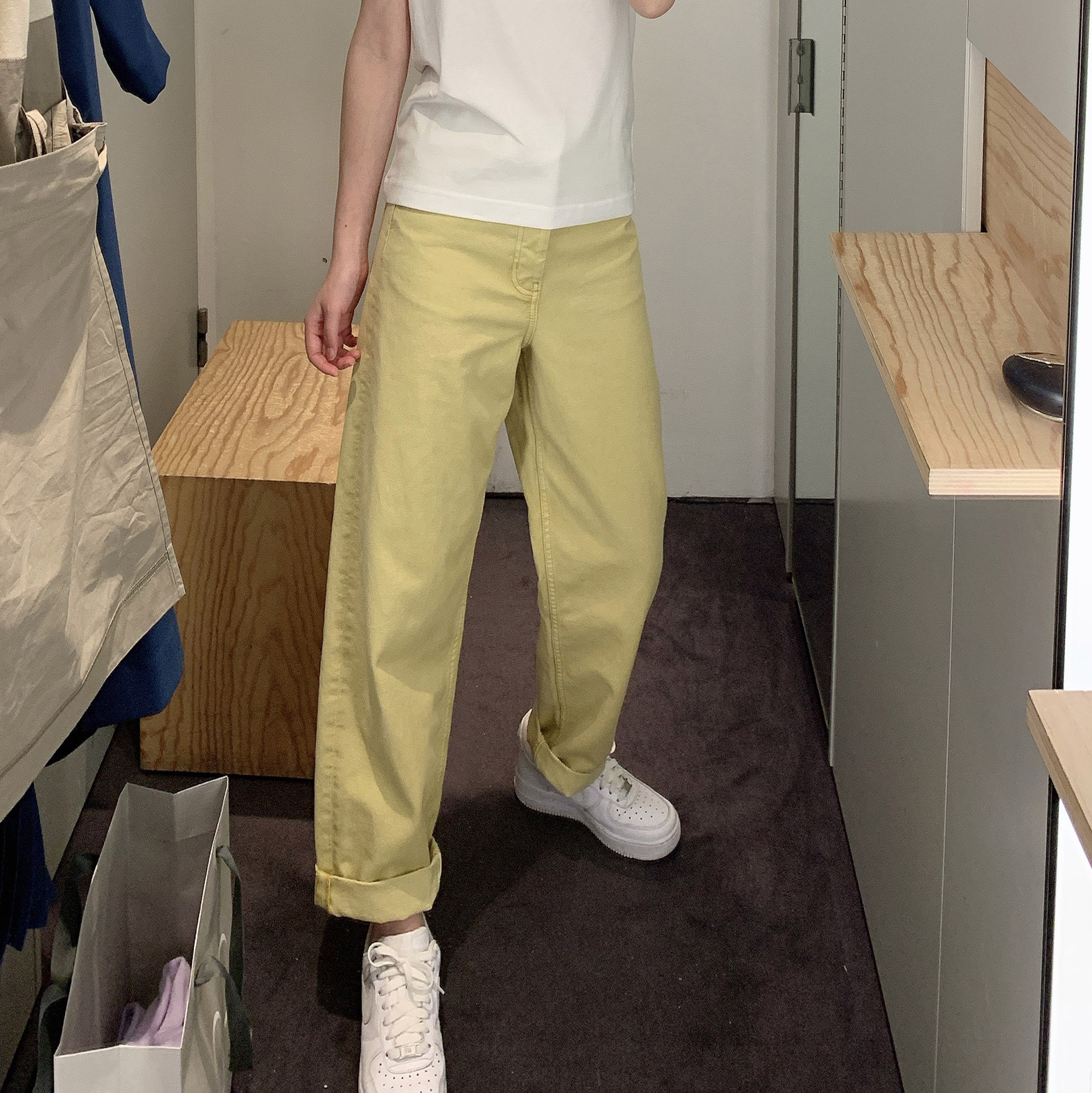 黄色牛仔裤 joz自制20春新品cos风黄色高腰直筒牛仔裤女百搭显瘦长裤老爹裤_推荐淘宝好看的黄色牛仔裤