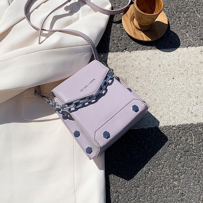 紫色水桶包 上新小包包女2020夏天新款韩版手提斜挎包网红紫色百搭链条水桶包_推荐淘宝好看的紫色水桶包